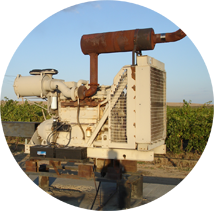 A diesel engine for powering water management systems