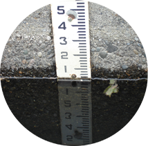 A staff gauge measures water levels